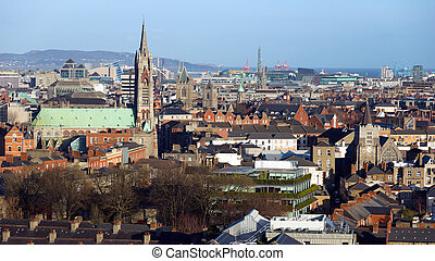 Dublin Ireland - View over Dublin, Ireland