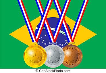 Soccer medals, Brazil
