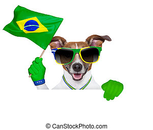 brazil fifa world cup dog - fifa world cup dog waving brazil...