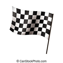 Racing flag isolated on white background