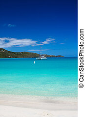 Catamaran in St. Thomas - Megan\'s Bay, St. Thomas, USVI
