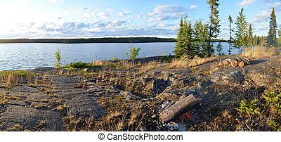 Hidden lake - View from an island on hidden lake, nwt, late...