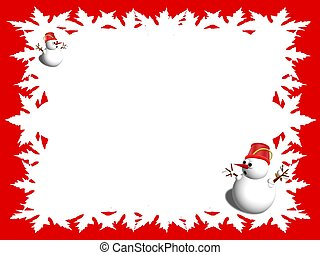 christmas frame background red