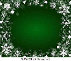 christmas frame background green