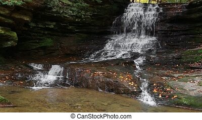 Honey Run Waterfall Loop - Honey Run Falls, a waterfall in...