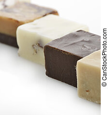 Chocolate Fudge Collection - Chocolate Fudge Squares,Close...