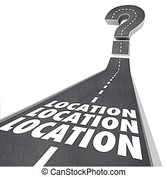Location Location Location Words Road Destination Navigation...
