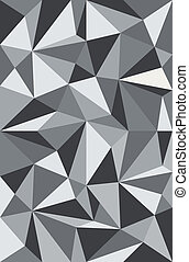 Vector pattern triangles white gray