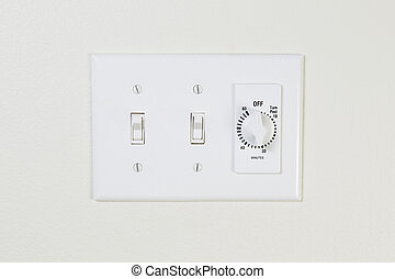 Light and Fan Switch for Bathroom