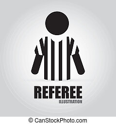 referee design - Referee design over gray background, vector...