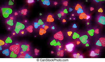 (1034) Conversation Heart Candies Valentine Animation