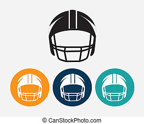 Football design over gray background, vector illustration