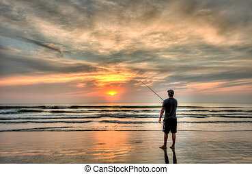 Surf Fishing - Surf fishing in Daytona Beach, FL