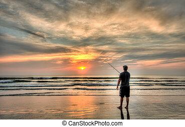 Surf Fishing - Surf fishing in Daytona Beach, FL
