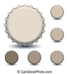 Bottle caps - Vector illustration of bottle caps eps 10