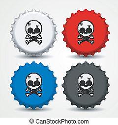Bottle caps vector  - Bottle caps vector. eps 10