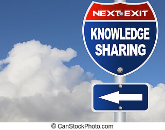 Knowledge sharing road sign