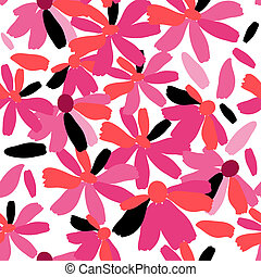 Stylish pattern with pink flowers