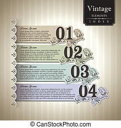 Vintage style Bar Graph Element