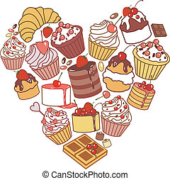 heart of cakes