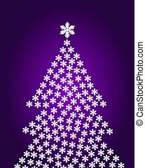 Abstract christmas tree background purple