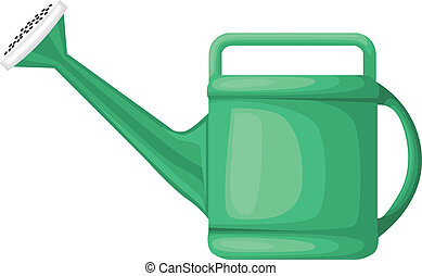 Watering can - Garden green plastic watering can