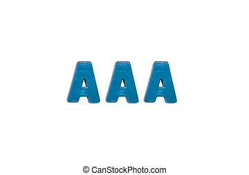 Letter magnets AAA - Letter magnets AAA isolated on white