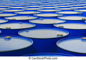 barrels - metal barrels of blue color