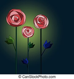 Flower background with roses.