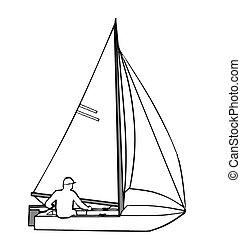 Sail Boat - Small yacht