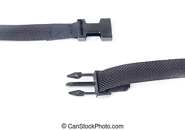 black plastic buckle on strap