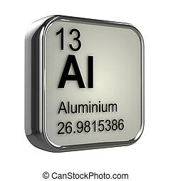 3d Aluminium element - 3d render of the aluminium element...