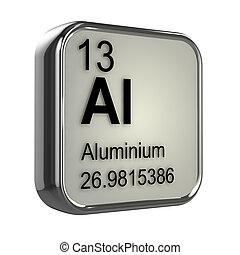 3D, aluminio, elemento
