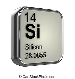 3d Silicon element - 3d render of the silicon element from...