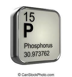3d Phosphorus element - 3d render of the phosphorus element...