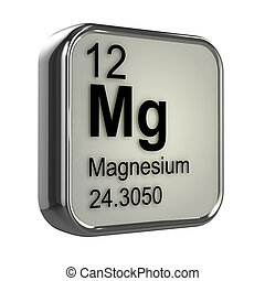 3d Magnesium element - 3d render of the magnesium element...