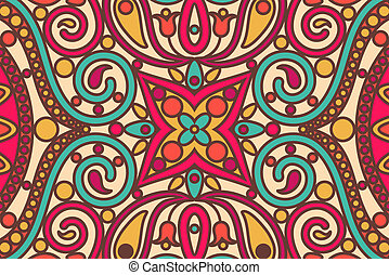 seamless pattern - vector orient seamless pattern