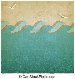 Vintage marine underwater background