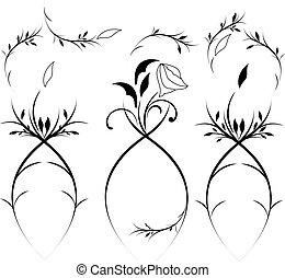 Vintage floral design element vector eps 8