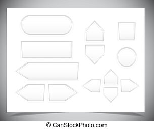 Set of Web buttons for design .