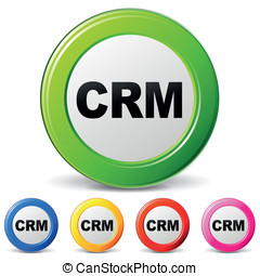 Vector crm icons - vector illustration of crm icons on white...
