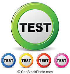 Vector test icons - Vector illustration of test icons on...
