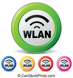 Vector wlan icons - vector illustration of wlan icons on...