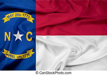 Waving North Carolina Flag
