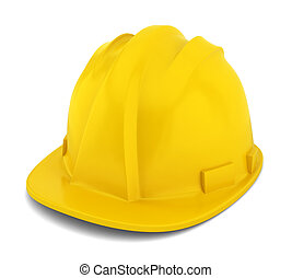 Safety helmet. 3d illustration on white background