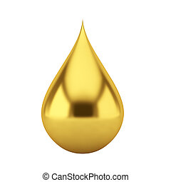 Oil drop 3d illustration on white background