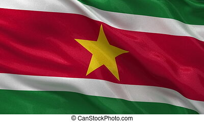 Flag of Suriname - seamless loop