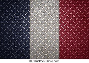 france Flag Seamless steel diamond plate