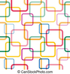 Seamless pattern with colorful squares Vector illustration