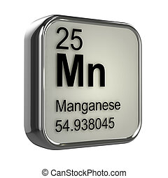 3d Manganese element - 3d render of Manganese element design